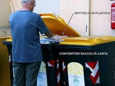 Multe per inciviltà come ad esempio gettare la plastica nella raccolta carta