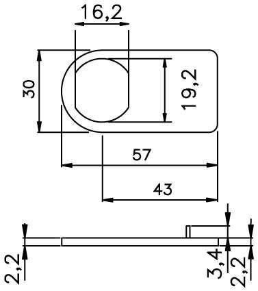 Placca per anta doppia omr serrature produzione for Scheda tecnica anta ribalta giesse