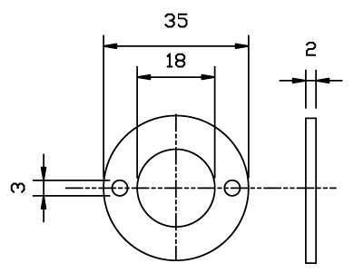 Distanziale per serratura anta cassetto omr serrature for Scheda tecnica anta ribalta giesse