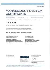 Certificazione qualità 2015-2018 DNV GL