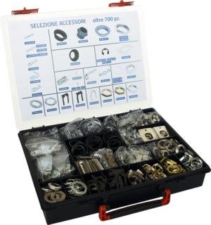 Valigetta contenente una selezione di accessori per serrature