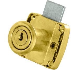 serratura dorata per anta o cassetto OMR